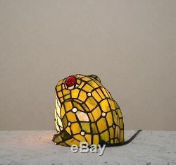 A Big Fat Frog Stained Glass Handcrafted Night Light Table Desk Lamp. Cute