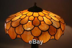 Antique Art Nouveau Pairpoint Stained Glass Lamp