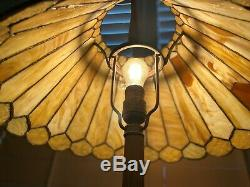 Antique Duffner Kimberly Leaded Stained Glass Lamp, Handel Era