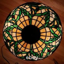 Antique Early Leaded Slag Stained Glass Table Lamp Handel Duffner Tiffany Era