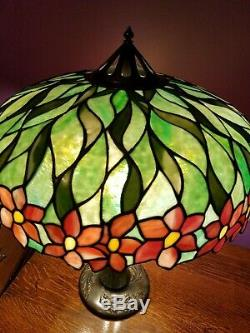 Antique Handel Leaded Stained Glass Lamp c. 1905
