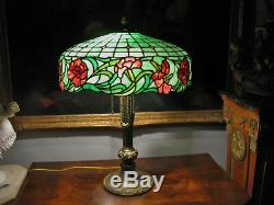 Antique R. Williamson & Co Stained / Leaded Glass Lamp