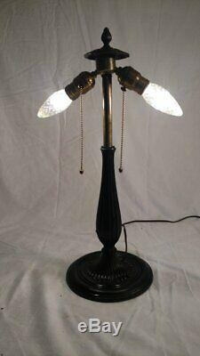 Antique Signed Miller Lamp Base for leaded/stained glass shade