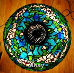 Antique / Vintage Tiffany Studios Style Pond Lily Stained Leaded Glass Lamp