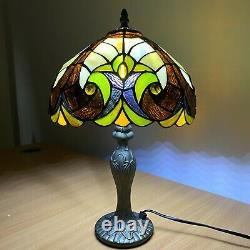 Antique design Handcrafted Tiffany Table Lamp Home Decor Stained Glass Shade UK