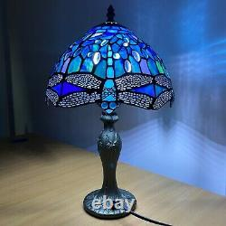 Blue Tiffany Stunning Quality Style HAND CRAFTED 10 Glass Table Desk LAMPS UK