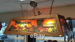 Budweiser Clydesdale Pool Table Light Lamp Vintage Stained Glass Rare Beer