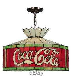 Coca Cola 20 Light Coke Stained Glass Hanging Lamp Fixture 230 Volt 140220