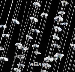Crystal Chandelier Pendant Luxury K9 Rain Drop LED Light Ceiling Lamp Room Decor