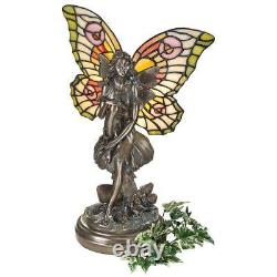 Design Toscano Fairy of the Glen Tiffany-Style Stained Glass Illuminated Statue
