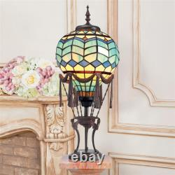 Design Toscano Le Flesselles Hot Air Balloon Illuminated Stained Glass Statue