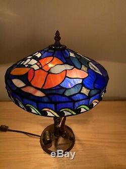 Disney Stained Glass Tiffany Style Tinkerbell Lamp Limited Edition