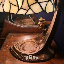 Disney Tinker Bell Stained Glass Lamp 50th Anniversary FREE gift Disney pins