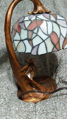 Disney Tinkerbell 50th Anniversary Stained Glass Lamp LE Tiffany Peter Pan /2500