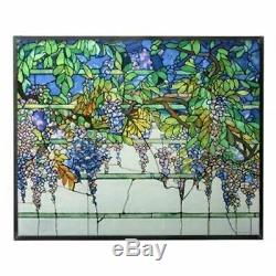 Ebros Tiffany Wisteria Stained Glass Home Decor Fantasy Collectibles 14.125H
