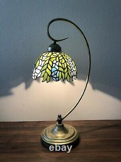 Enjoy Table Lamp Stained Glass 8Lamp Shade Metal Base W11H21Inch ET0081