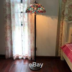 Floor Lamp Stained Glass Tiffany Style Victorian Design 18 Shade