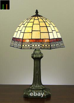 Free Postage JT Tiffany Valley Forge Stained Glass Bedside Table Lamp