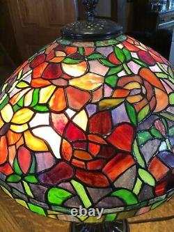 Gorgeous Dale Tiffany Stained Glass Table Lamp 26 Tall
