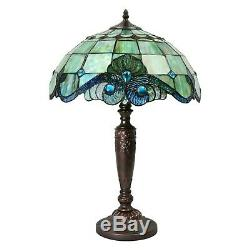 Handcrafted Tiffany Style Victorian Pearl Vintage Table Lamp 16 Shade