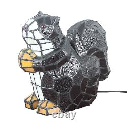 Lovely Tiffany Stained Glass Squirrel Table Lamps Lampshade Night Lighting Gift
