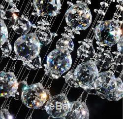 Luxury Pendant Crystal Chandelier Spiral Rain Drop Ceiling Lamp Lighting Fixture