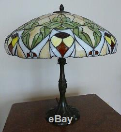 Massive Whaley Stained Glass Table Lamp Wilkinson, Unique, Handel, Duffner Era