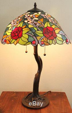 New Rose Tree Tiffany Style Table Lamp Stained Glass lamp Tiffany lighting