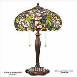 Pink Primrose Tiffany-Style Stained Glass 23 Lamp