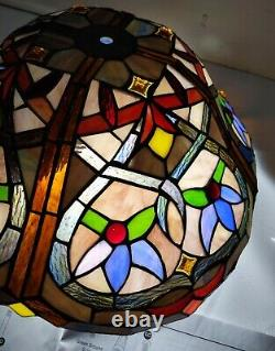 Portfolio 16 Bronze Tiffany-style Stained Glass Shade Ceiling Fixture Light Lamp