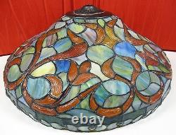 Quoizel Collectibles Tiffany Style Stained / Leaded Glass Bowl Pendant Lamp