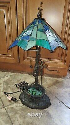 RARE Disney Nightmare Before Christmas Stained Glass Lamp LE2500 MINT Condition