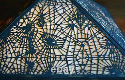 Rare Antique Apollo Studios Pine Cone Arts & Crafts Glass Desk Lamp 1910 Tiffany