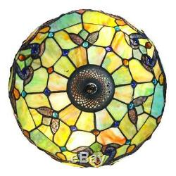River of Goods 14825 Magna Carta 3-Light 20H Table Lamp with Stained Glass Shade