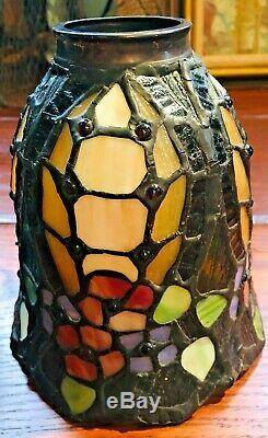 Set of 3 Stained Glass Slag Glass Tiffany Style Lamp Shades