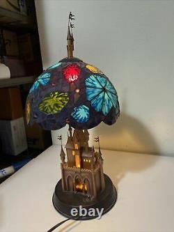 Sleeping Beauty Fantasy in the Sky Stained Glass Lamp Disneyland 50th Anniv