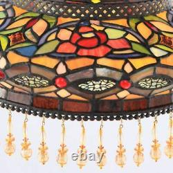 Stained Glass 59-inch Parisian Side Arm Floor Lamp Tiffany Victorian Style