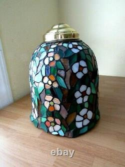 Stained Glass Lamp Light Shade Only Vintage Artisan Handcrafted Tiffany Style