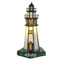 Stained Glass Lighthous Table Lamps Shade Tiffany Home Lighting Night Light Gift