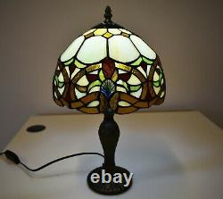 Tiffany Anitique Style 10 inch Table Lamp Handcrafted Design Shade Bulb Multi