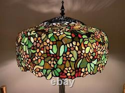 Tiffany Apple Blossom Stained Glass Lamp