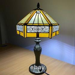 Tiffany Hexagon style 10 inch Beautiful Hand Crafted Lamp Stained Glass