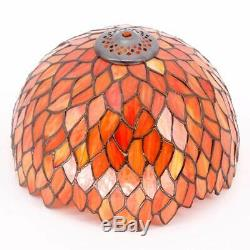 Tiffany Lamp Red Wisteria Style Table Desk Lamp Light 18 Inch Tall Antique Besid