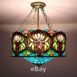 Tiffany Stained Glass Baroque Lantern Light Pendant Ceiling Lamp Lighting Retro