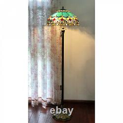 Tiffany Style 2-light Antique Victorian Style Stained Glass Floor Lamp