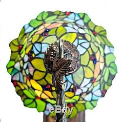 Tiffany Style 23 Tall Floral Leaf Stained Glass Table Desk Lamp 10 Shade