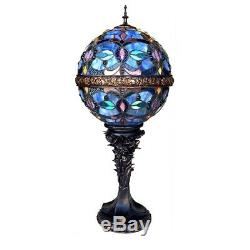 Tiffany Style 27 Tall Victorian Globe Shape Stained Glass Table Lamp 11 Shade