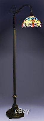 Tiffany Style Blue Dragonfly Bridge Floor Lamp 10 Shade New