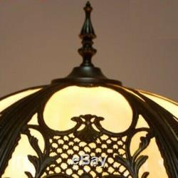 Tiffany Style Floor Lamp Handcrafted Light Vintage 18inch Stained Glass Lamps