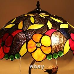 Tiffany Style Floral Stained Glass Table Lamp 16 Wide MARIEBELLE